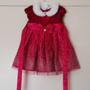 Girl's red dress size 24M/2T